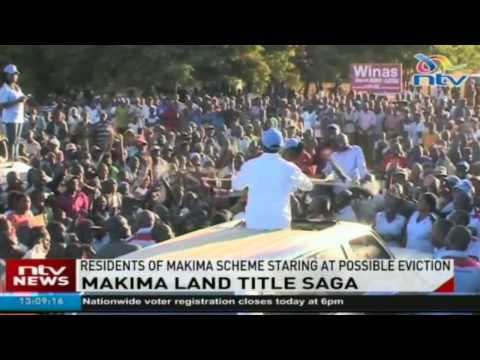 Makima land title saga: Wetangula and Kalonzo want government to resolve issue