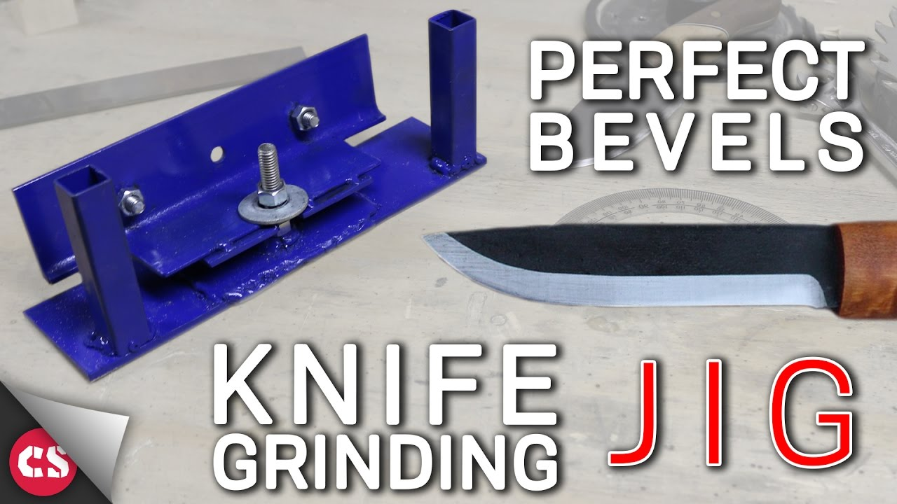 Knife Grinding Jig Diy Perfect Bevels Youtube