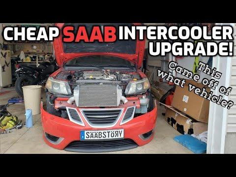 SAAB 9-3 DIY Upgrade Intercooler Install
