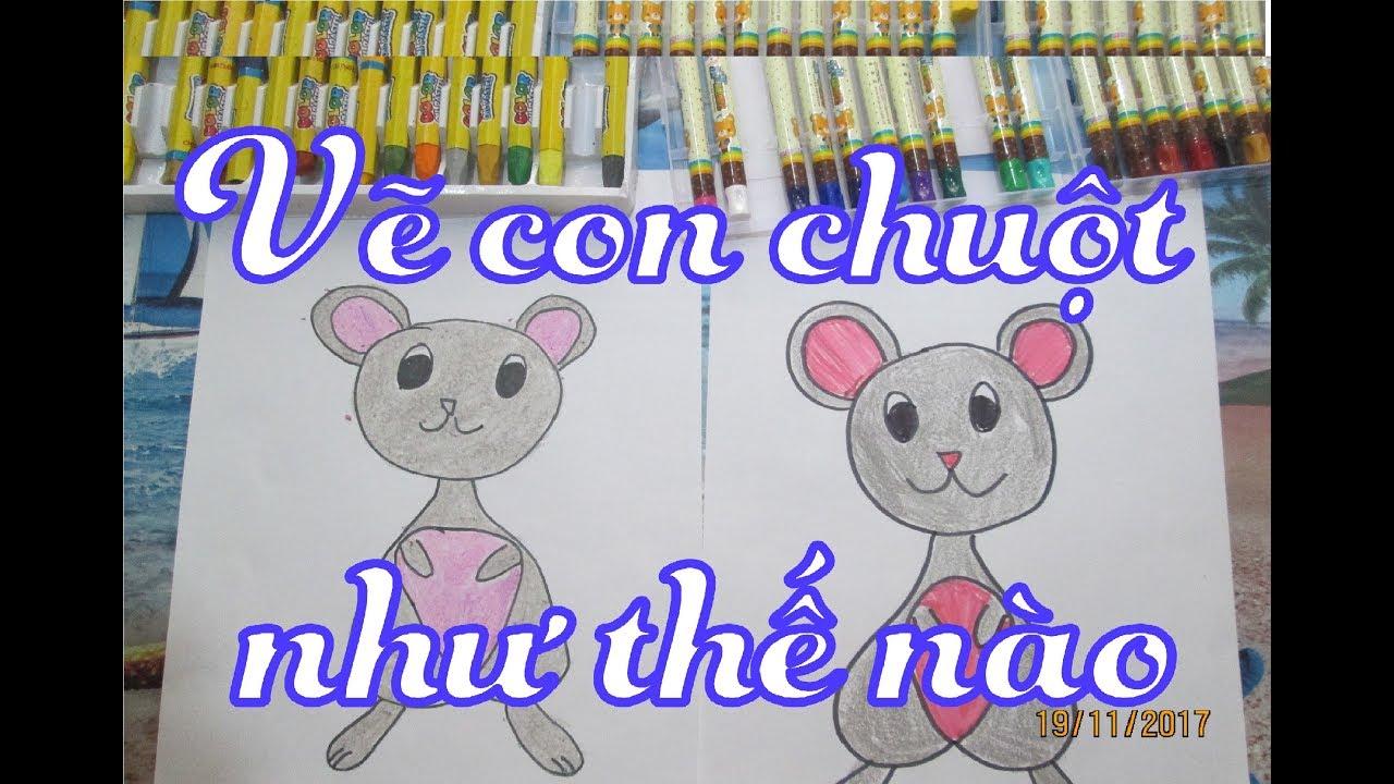 #8 Vẽ con chuột như thế nào    How to draw the mouse
