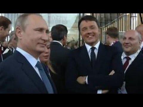 Путин в Италии: квас и блюда русской кухни как противовес санкциям