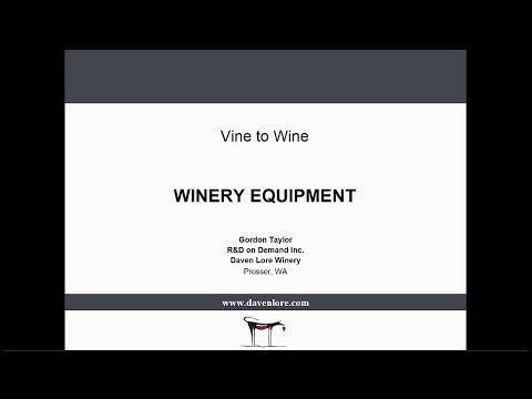 2016 V2W 17 Winery Equipment