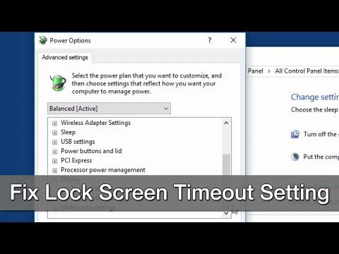 Change Windows 10 Lock Screen Timeout Setting within Power