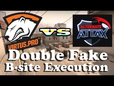 CS:GO  de_dust2 Tactic Virtus.Pro vs Alternate - Double Fake & B-site Execution