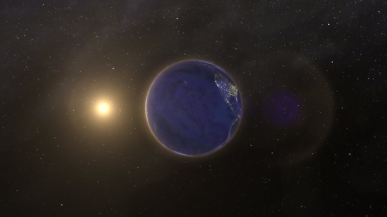 Flight through the Solar System - YouTube