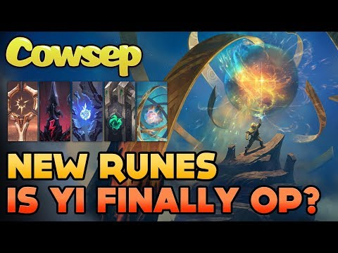 NEW RUNES - IS MASTER YI FINALLY OP? Cowsep's new rune choices