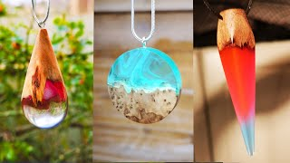 Epoxy Resin DIY Ideas. 3 Amazing Jewelry with Resin and Wood | Resin Pendants - Resin Art