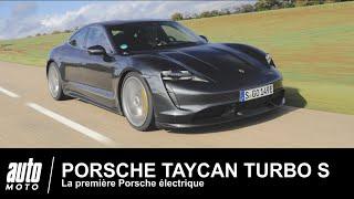 Porsche Taycan Turbo S 761 ch ESSAI Français AUTO-MOTO.COM