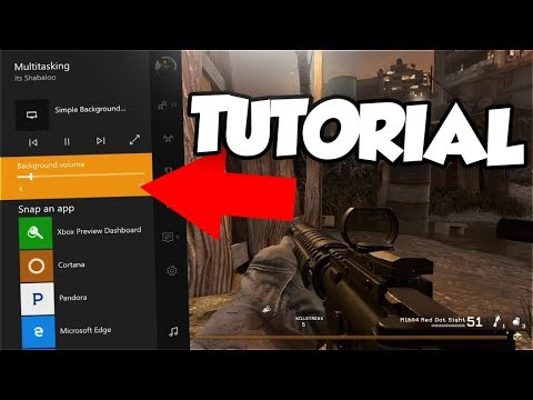 LISTEN TO YOUTUBE WHILE PLAYING GAMES ON XBOX ONE (TUTORIAL)