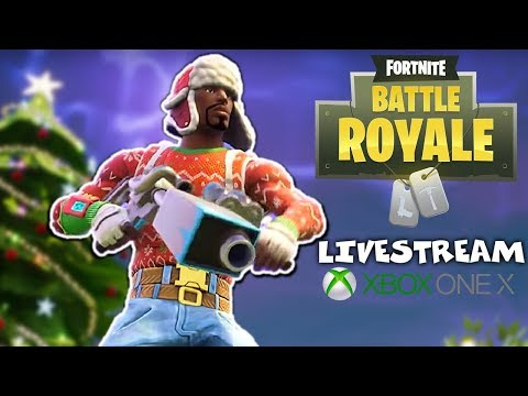 Impromptu Livestream - Fortnite Battle Royale Gampleay - Xbox One X - Festive Update