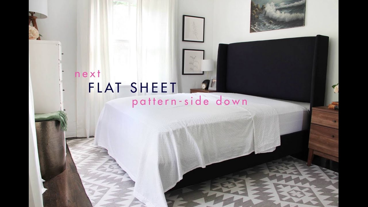 Style School How To Style Your Bed YouTube - Bed Styling Ideas