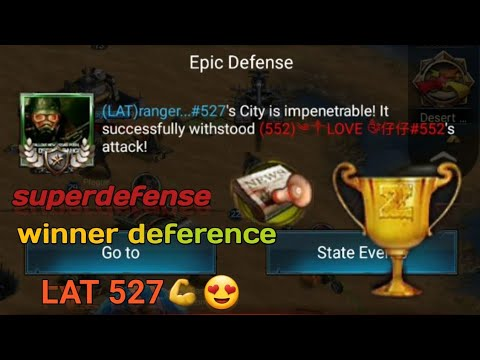 Last Empire War.Z Super Defense🏆 Ranger 💪 527 VS 552 In Desert