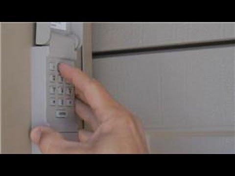 Garage Door Help How To Reset A Garage Door Keypad Outside Youtube