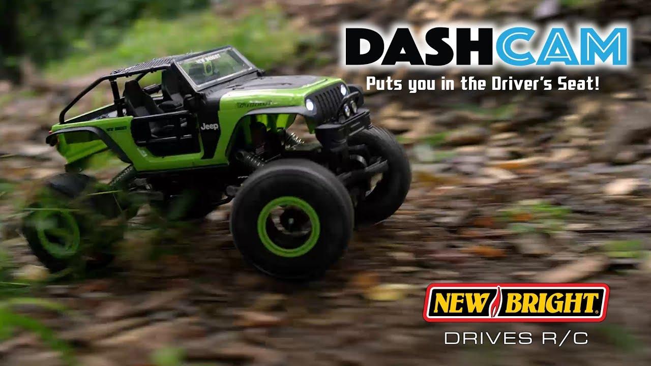 New Bright 1:14 RC Dash Cam Rock Crawler Remote Control Camera Car Truck Virtual