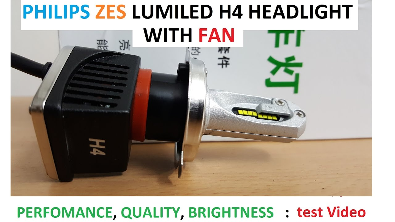 h4 philips lumiled zes led head light with fan youtube. Black Bedroom Furniture Sets. Home Design Ideas