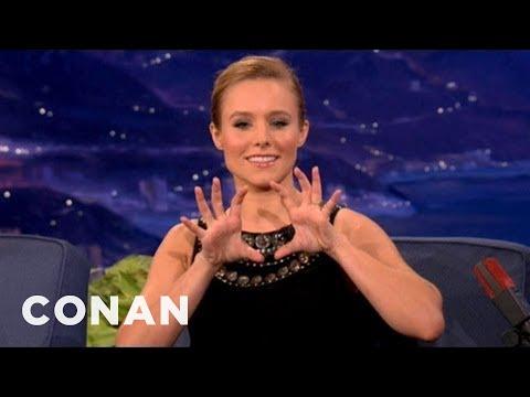 Kristen Bell Likes Her Own Butt  CONAN on TBS