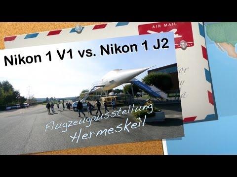 Nikon 1 V1 versus Nikon 1 J2 - Flugzeugausstellung Hermeskeil