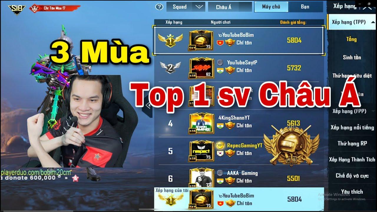 PUBG Mobile - Hành trình Mang lá cờ VIỆT NAM 3 lần lên Top 1 sever Châu Á