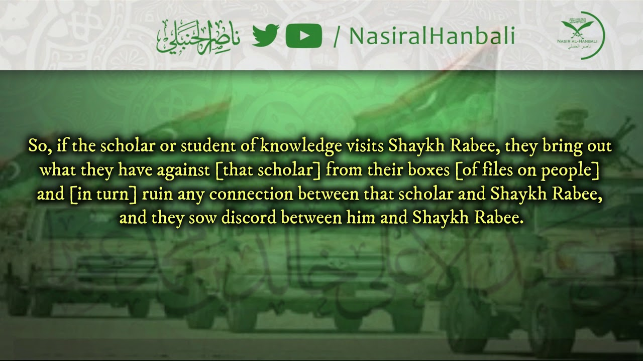 The Sa'āfiqah Sow Discord Between Shaykh Rabee & The Rest Of The Scholars
