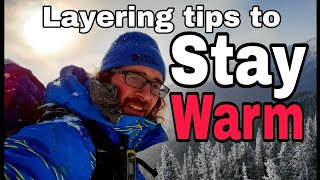 How To Layer Cloтhes For Winter Camping in COLD Weather