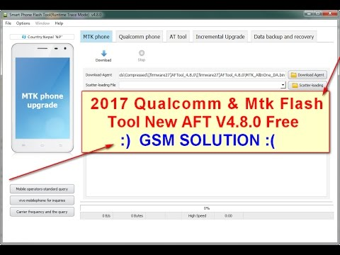 2017 Qualcomm & Mtk Flash Tool New AFT V4.8.0 Free Guide ...