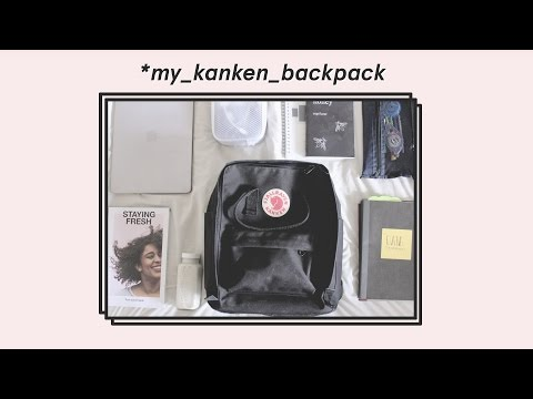 what's in my kanken backpack — packing minimally for college
