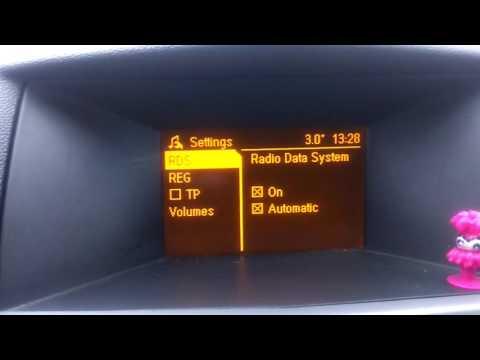 Регулировка уровня громкости звука для компенсации наружного и дорожного шумаSDVC Opel Astra H