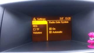 Регулювання рівня гучності звуку для компенсації зовнішнього та дорожнього шумаSDVC Opel Astra H