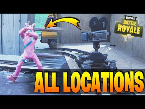 Fortnite - Dance In Front Of Different Film Cameras - All Locations / Guide / How To