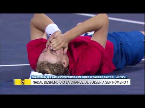 RESUMEN - Nadal fue eliminado de Montreal por Shapovalov  3-6, 6-4 y 7-6