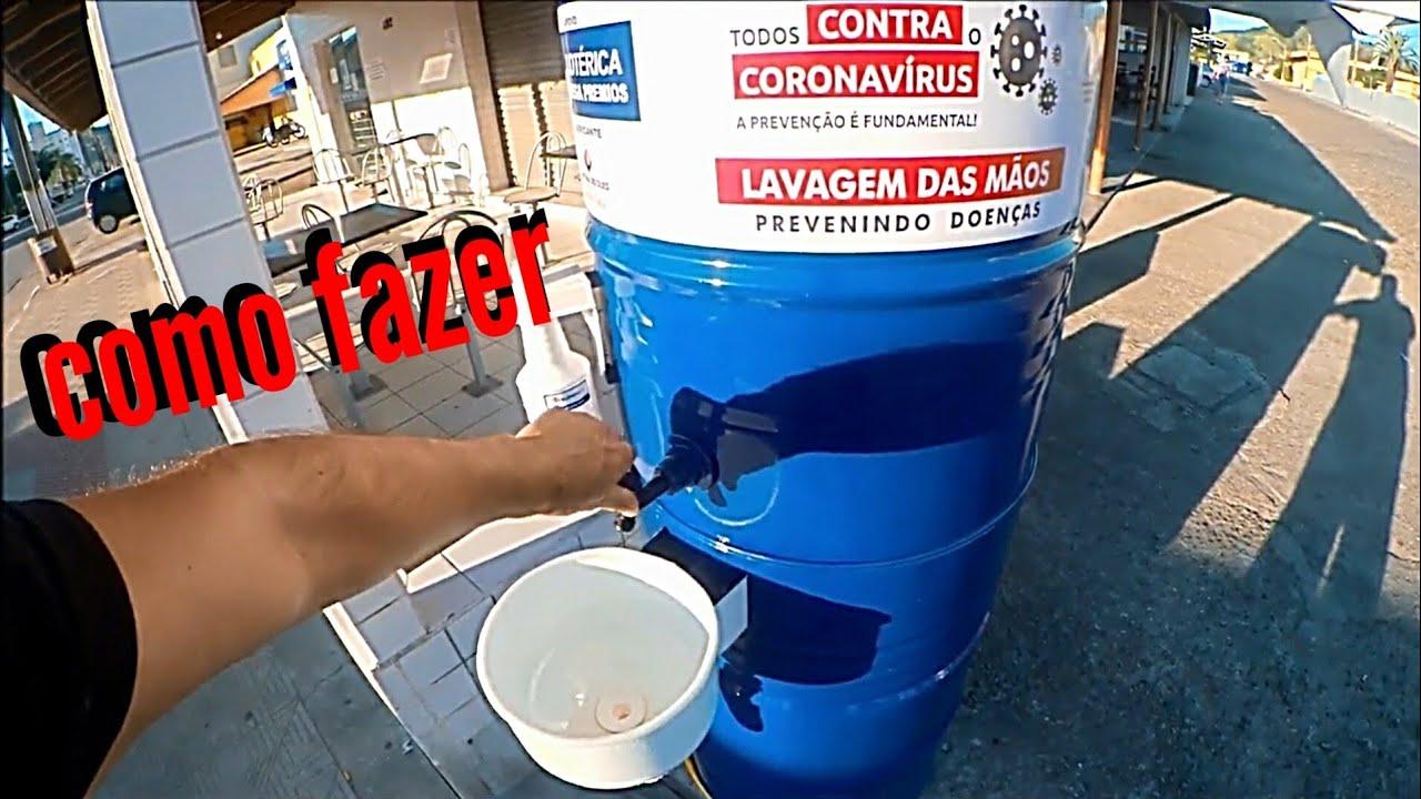 lavatório de mãos comunitário - como fazer -coronavírus