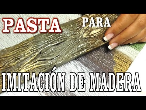Pasta para imitaci n de madera paste to imitate wood - Como forrar una pared con madera ...