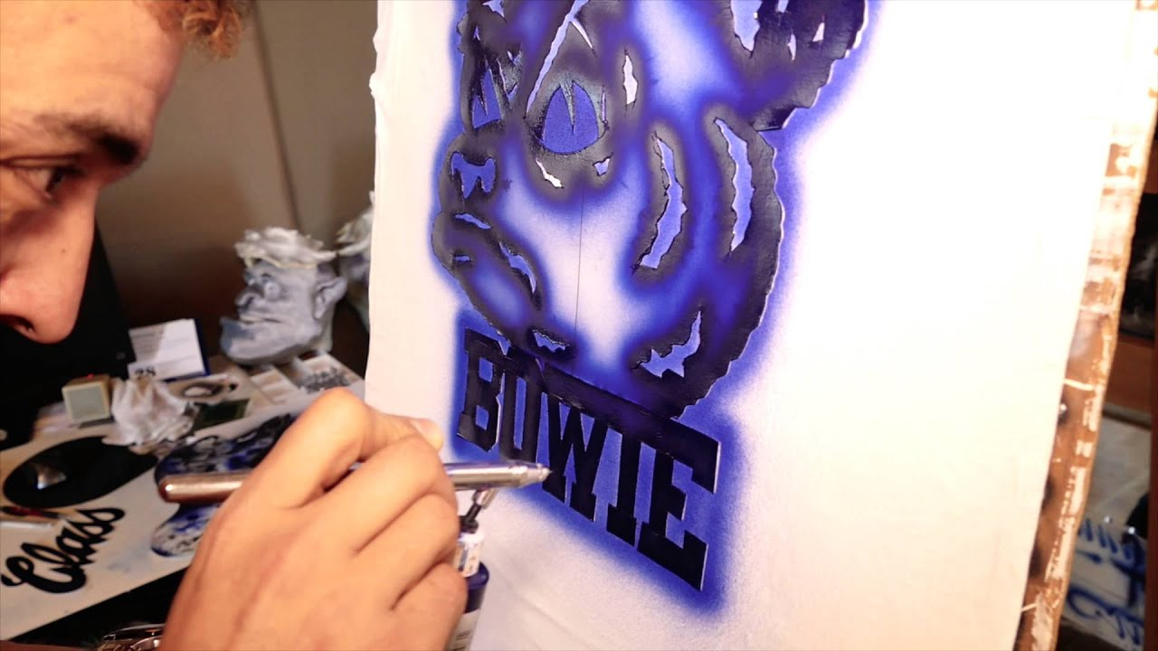 cfd2433b Vinnie Langdon: How To Airbrush A T-Shirt with Air Magic - YouTube