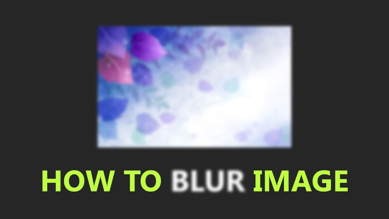 how to add blur to images css