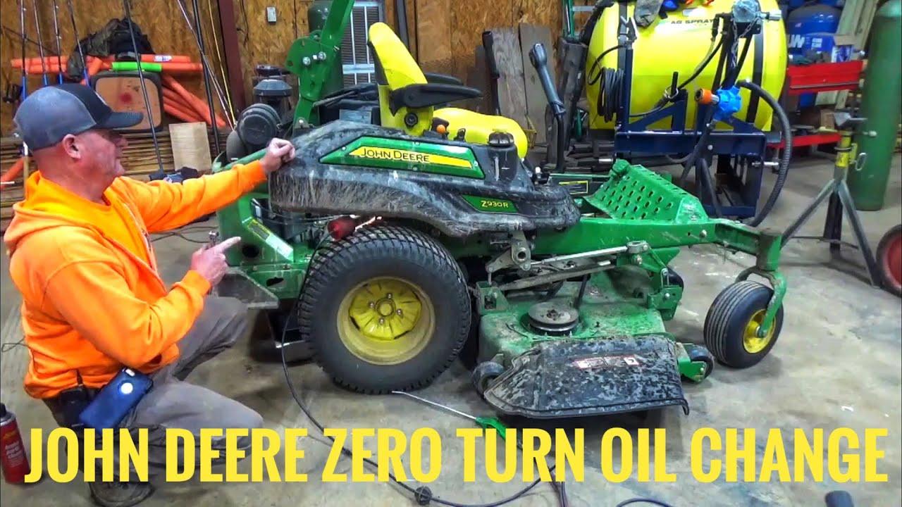 John Deere Z930R zero turn oil change and service