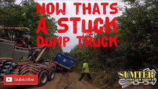 Now That's A Stuck Dump Truck