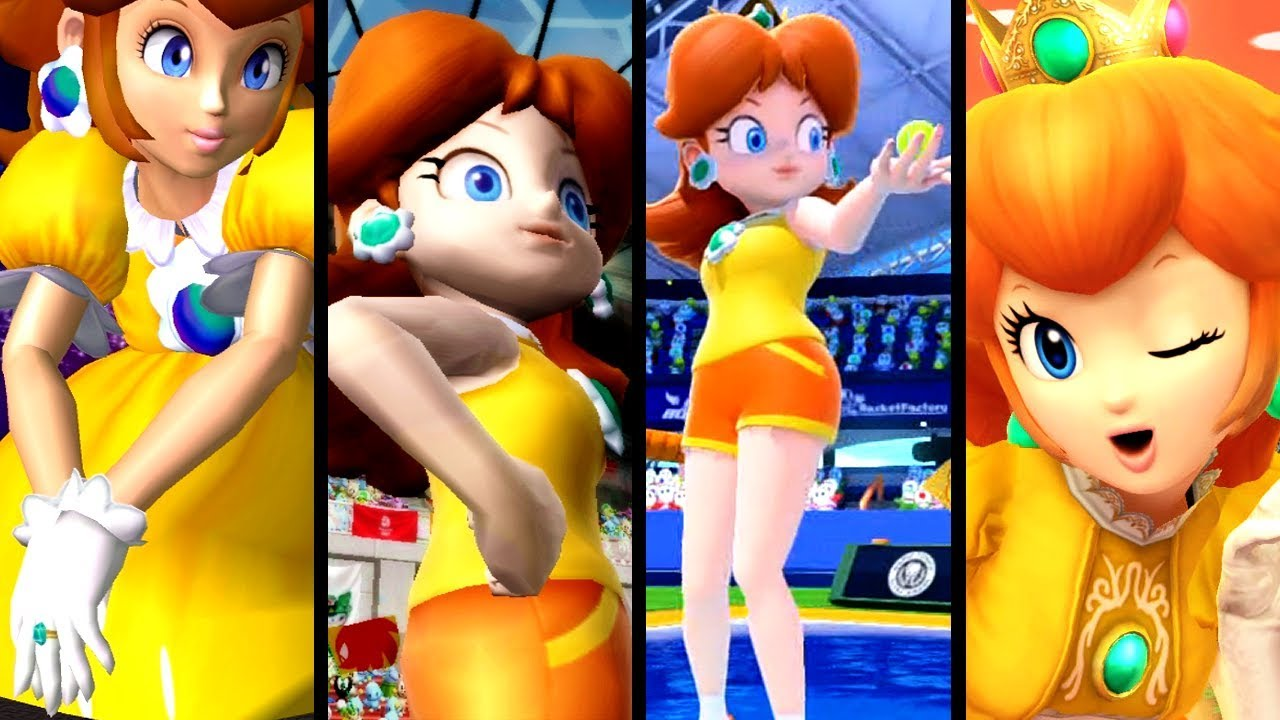 Super Mario Evolution of GIANTESS DAISY 2001-2017 (N64 to 3DS)