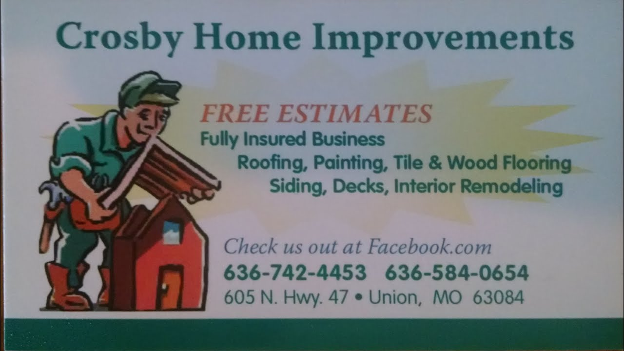Crosby Home Improvements Roofs Decks Remodeling Union Mo Local Business Patrtios