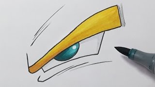 How to Draw a Dragon ball Z Eye - Step by Step