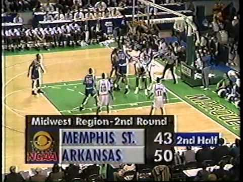 03/21/1992 NCAA Midwest Regional 2nd Round:  #6 Memphis State Tigers vs.  #3 Arkansas Razorbacks