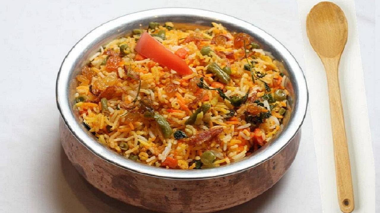 Vegetable Biryani Recipe Video Indian Vegetarian Recipes By Bhavna