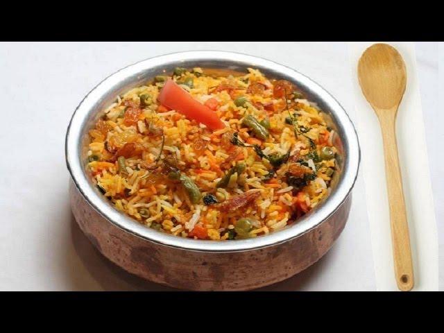 Vegetable Biryani Recipe Video - Indian Vegetarian Recipes by Bhavna