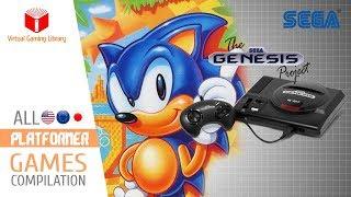 All SEGA Genesis/Mega Drive Platformer Games Compilation - Every Game (US/EU/JP/BR)