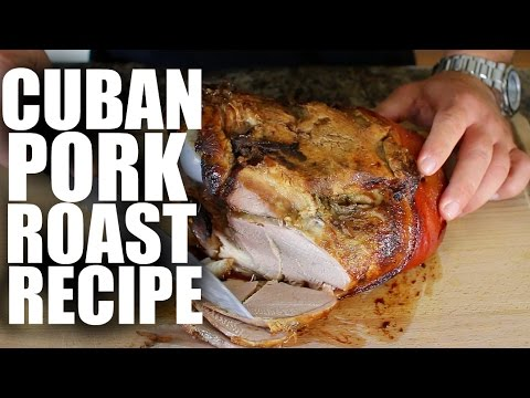 Cuban Pork Roast Recipe – pork shoulder – chef – mojo