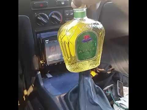 Custom shift knob  Crown royal apple bottle