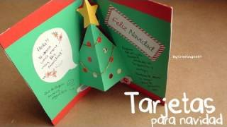 Tarjetas para Navidad - 3 estilos: Pop-up, 3D y Sencillo thumbnail