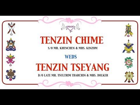 Tenzin Chime and Tseyang Wedding ceremony