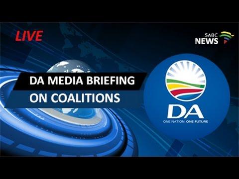 DA media briefing on coalition talks
