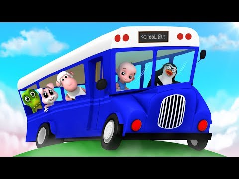 Wheels On The Bus | Bus Song | Nursery Rhymes Songs For Kids | Baby Rhymes By Junior Squad