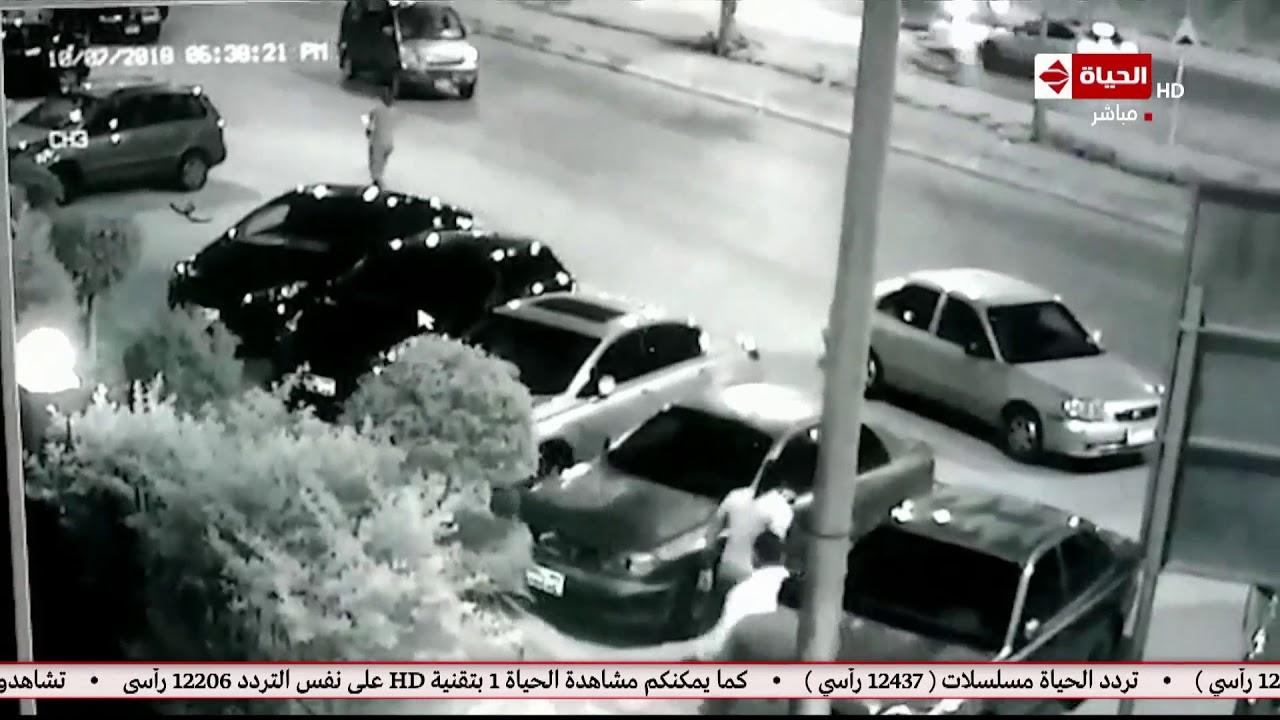 صبايا | أول فيديو يظهر لحظة خطف طليق نوليا مصطفي لنجلهما وتحطيم زجاج سيارتها بطريقة بشعة!!